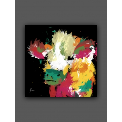 Highland Cow Fine ArtPrint by Aimee Freeman foil finished