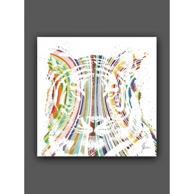 Fine Art Tiger Print hand finsihed with topaz and pewter foil
