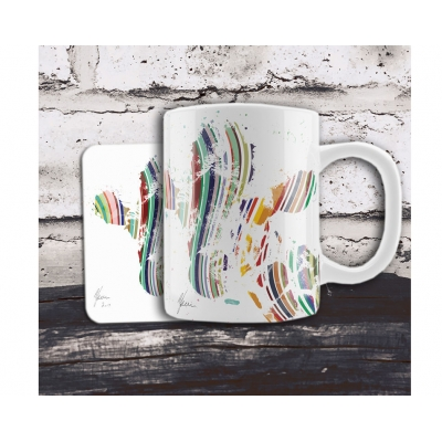 Jeffrey Giraffe Colourful Mug & Coaster Gift Set