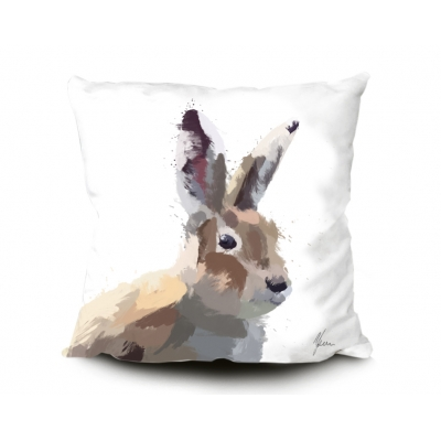 Rabbit / Hare 45x45cm Luxury Faux Suede Cushion