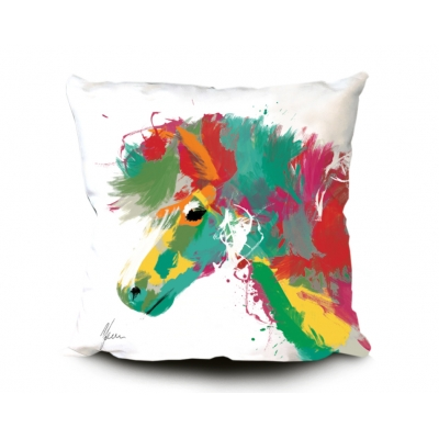 Pony Print Cushion Whit..