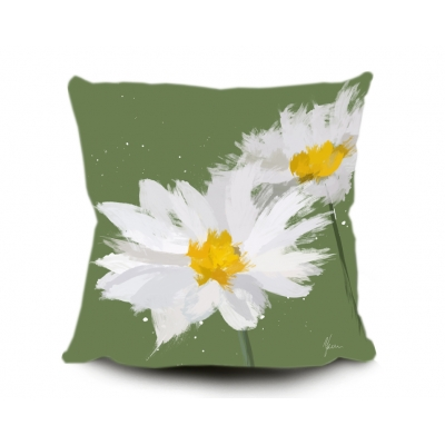 Daisy Cushion, Digital painting by Aimee Freeman- Green