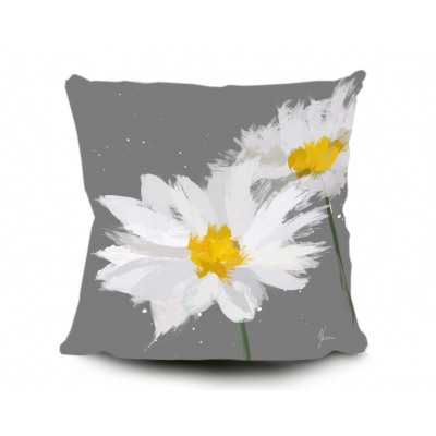 Daisy Cushion, Digital painting by Aimee Freeman- Grey