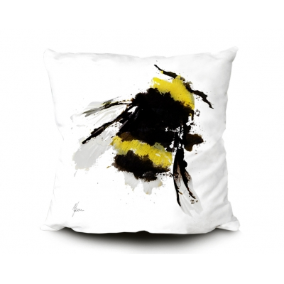 Bumblebee Cushion 45x45cm Luxury Faux Suede