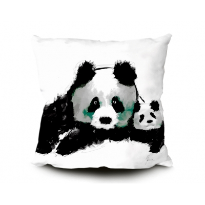 Panda Cub Cushion 45x45cm Luxury Faux Suede