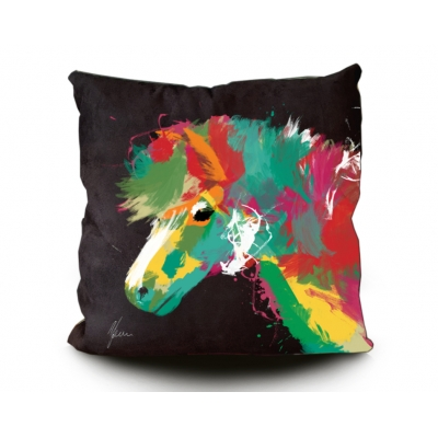 Pony Print Cushion Blac..