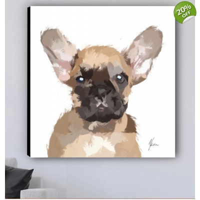 French Bulldog Canvas Print designed by Aimee Freeman