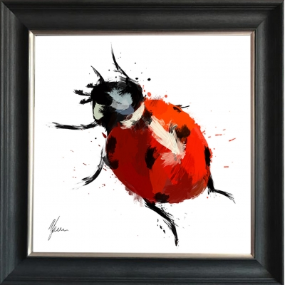 Scruffy Ladybird Hand Foil Finished- Fine Art Print