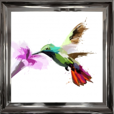 Scruffy Hummingbird Art..