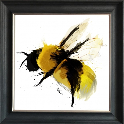 55x55cm Bumblebee II Framed Print Gold Foil Finished