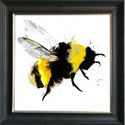 75x75cm Bumblebee III Framed Print Gold Foil Finished
