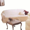 Farmhouse White SOFA Slipcover Shabby Chic Quilted Rachel Ashwell