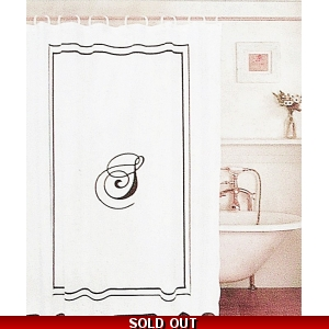 Shower Curtain Black Mo..
