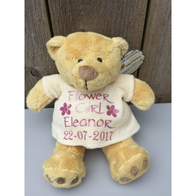 Flower girl, Bridesmaid personalised Teddy Bear gift