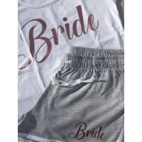 Bride pyjamas with matching slippers
