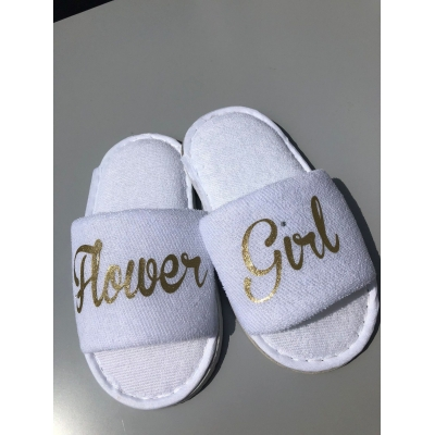FLower girl slippers,page boy slippers,ring bearer slippers