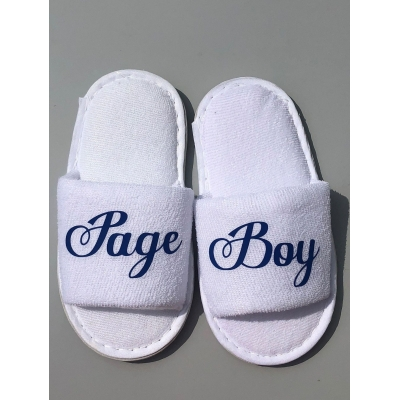 Page Boy Ring Bearer Spa slippers
