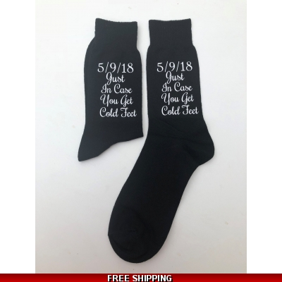 Groom socks just in case you get cold feet