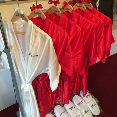 Personalised robes, maid of honour,mother of the bride