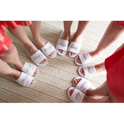 Bridesmaid spa slippers