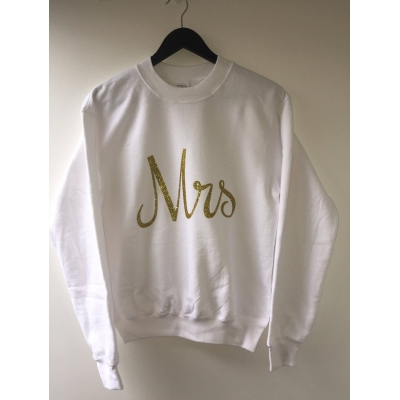 White Mrs sweater