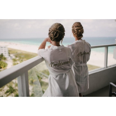 Bride robe, bridesmaid robe, personalised robes