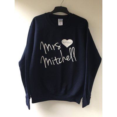 Mrs personalised sweater, Bride to be , bride sweater , honeymoon