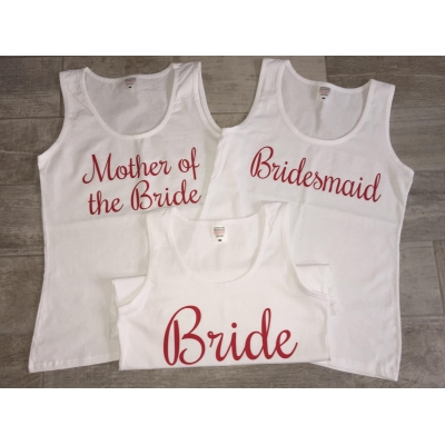 Bride tank top, personalised tank top, hen party tank top