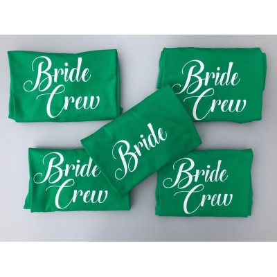 Bride Crew hen party t-shirts, bride, bridesmaid, girls on tour tshirt
