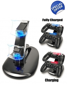 Sony-PS4-Dual-USB-Charging-Station-Dock-Charging-Stand-Playstation-4-Controlle..