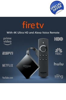 Fire TV with with 4K Ultra HD and Alexa Voice Remote Factory Refurbished