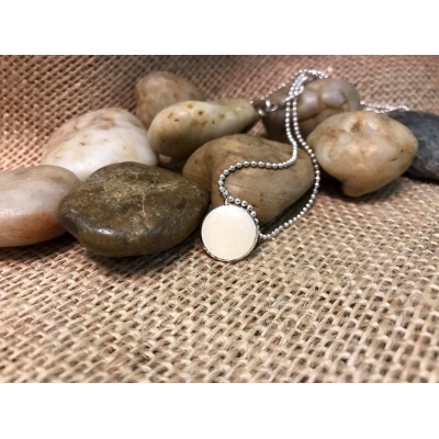 Breastmilk round or oval pendant