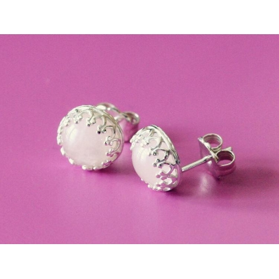 Breastmilk crown earrings