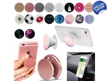 los angeles c5b0e bc821 Universal Pop Up Phone Holder Expanding Stand Hand Grip Mount For iphone  Samsung