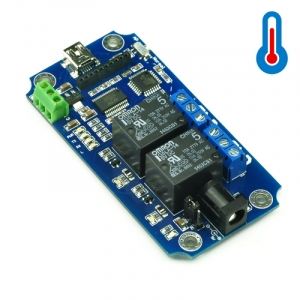 TOSR02-T - 2 Channel USB/Wireless 5V Relay Module Temperature Sensor Support