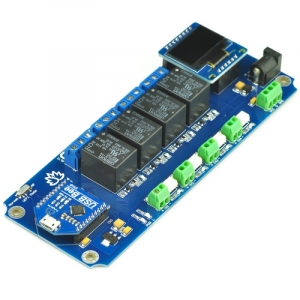 TSIR04 - 4 Channel Outputs, 4 optically Isolated Inputs USB Relay Module