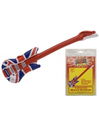 12 x Inflatable Union Jack Guitars