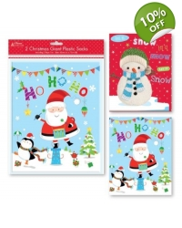 Image of 12 x 2 Giant Plastic Christmas Sacks