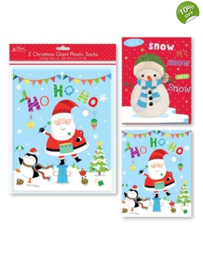 12 x 2 Giant Plastic Christmas Sacks
