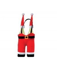 12 x Santa Double Wine Bottle Holders & Toppers