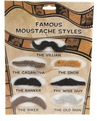 12 x Joke Moustache Sets