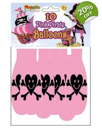 Image of 24 x Pink Pirate Balloons 10pk