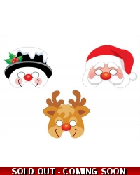 60 x Foam Christmas Masks