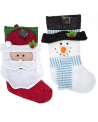 Image of 24 x Tinsel Christmas Stockings