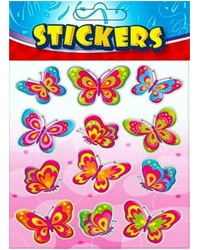 Image of 72 x Sheets of Butterfly Stickers