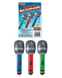 12 x Inflatable Microphones 25cm