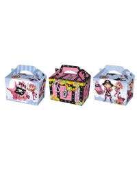 Image of 50 x Pink Pirate Food Boxes