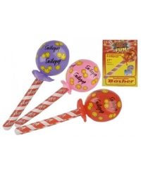 12 x Inflatable Smiley Lollipop Bashers