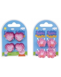 Image of 12 x Peppa Pig Hair Shark Clip Sets