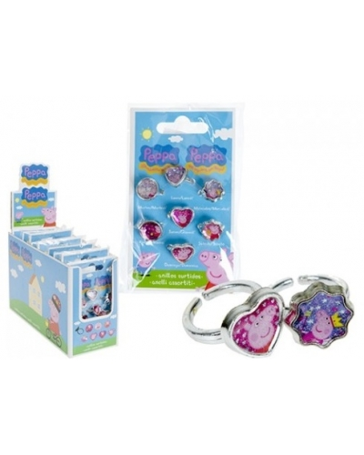 9 x Peppa Pig  7 Ring Sets
